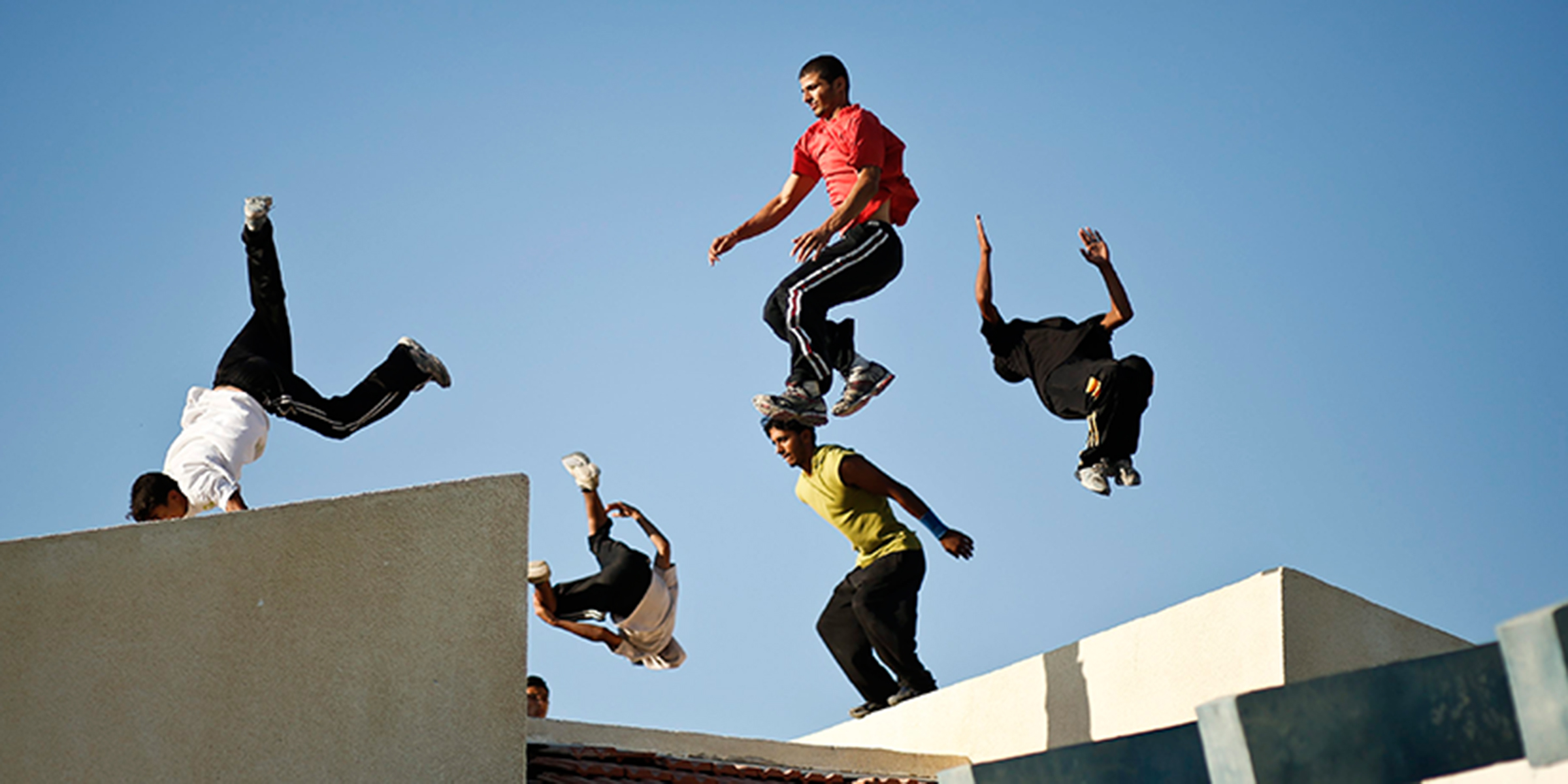 Parkour youths from Israel and Palestine