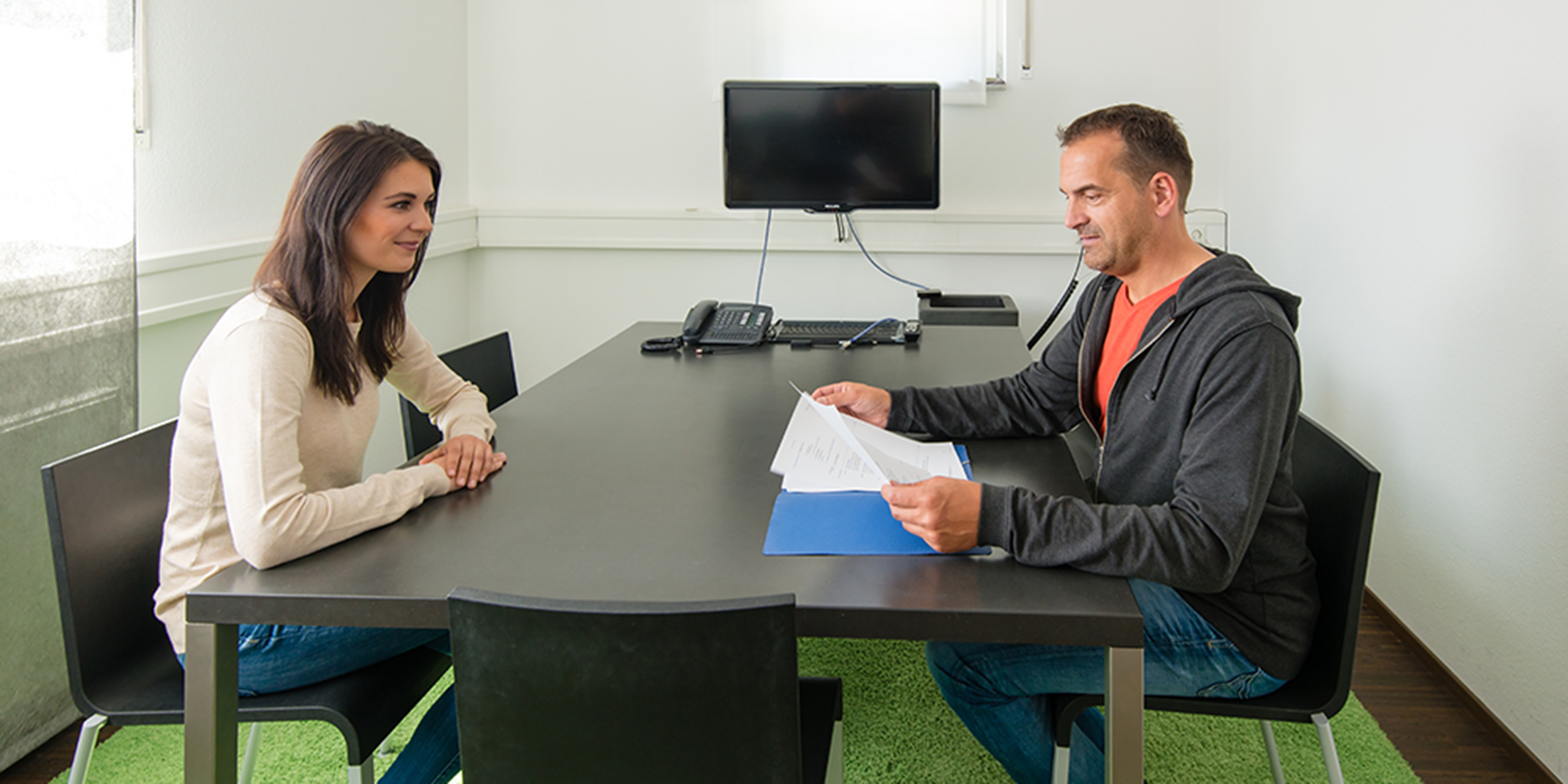 A picture from a job interview