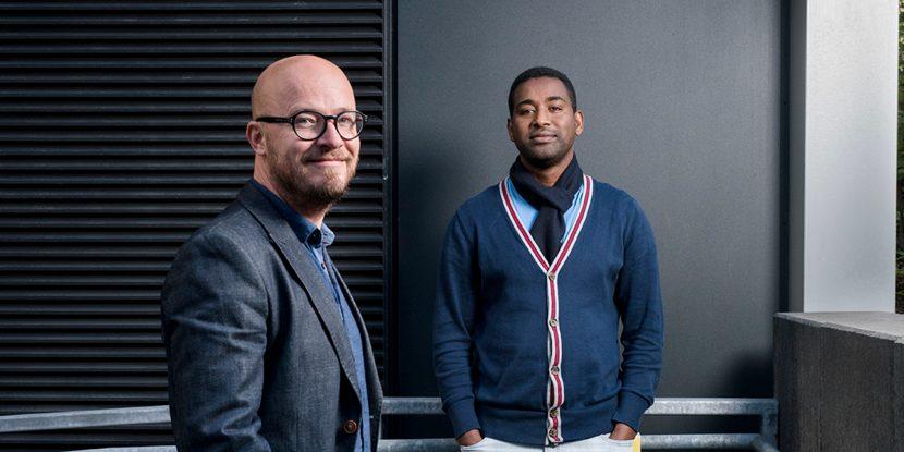 Christer Hyggen and Dawit S. Abebe at NOVA. Photo: Skjalg B. Vold, HiOA